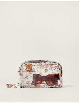 Floral Toiletry Bag by Stradivarius