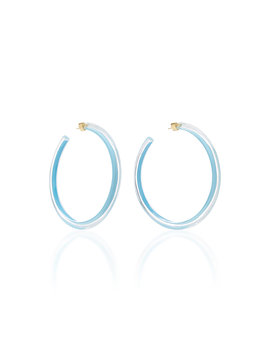Large Jelly Lucite Hoop Earrings by Alison Lou