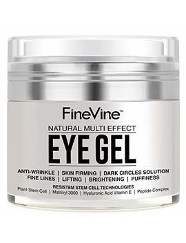 Anti Aging Eye Gel   Made In Usa   For Dark Circles, Puffiness, Wrinkles, Bags, Skin Firming, Fine Lines And Crows Feet   The Best Natural Eye Gel For Under And Around Eyes. by Fine Vine