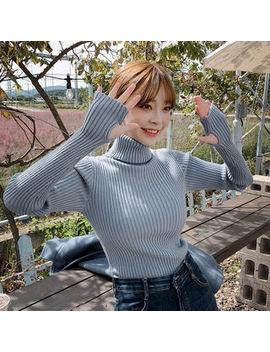 Chuu   Turtleneck Slim Fit Rib Knit Top by Chuu