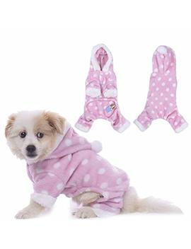 Widen Pet Warm Apparel Dog Hooded Pajamas Cat Clothes Jumpsuits Leisure Wear Four Feet by Widen Electric