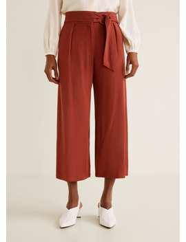 Belt Culottes Trousers by Mango