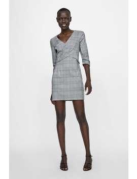 Vestito A Quadri Con Pieghe  Visualizza Tutto Vestiti Donna by Zara