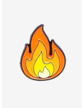 Fire Emoji Enamel Pin by Hot Topic