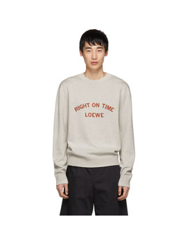 Grey 'right On Time' Sweater by Loewe