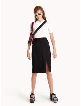Midi High Waist Pencil Skirt   Black by Pomelo