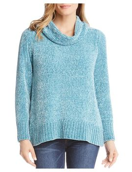 Chenille Cowl Neck Sweater by Karen Kane