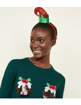 Green And Red Elf Christmas Headband by New Look