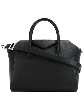 Small Antigona Black Convertible Goat Skin Leather Satchel by Givenchy