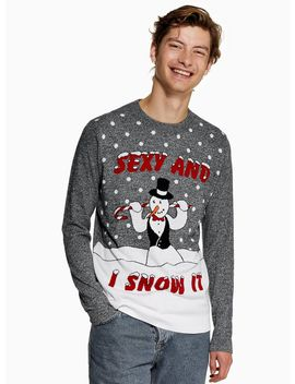 Christmas 'sexy And I Snow It' Jumper by Topman