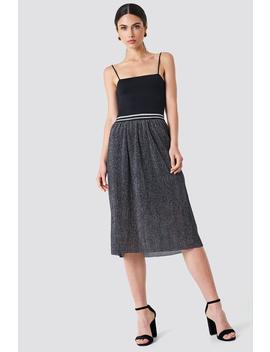 Glitter Pleat Skirt by Rut&Circle
