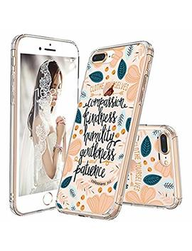 I Phone 8 Plus Case, I Phone 7 Plus Clear Case, Mosnovo Floral Flower Quote Clear Design Back Case With Tpu Bumper Cover For I Phone 7 Plus (2016) / I Phone 8 Plus (2017)   Cloth Yourselves by Mosnovo