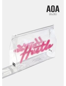 Aoa Clear Makeup Pouch   Neon Hustle by Shop Aoa
