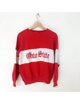 Vintage 80s Champion Ohio State University Boxy Cropped Sweatshirt by Etsy