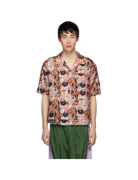 Pink Silk Print Shirt by Keenkee