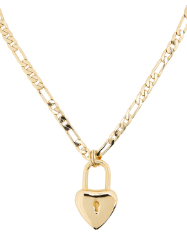 Heart Padlock Necklace by Laruicci