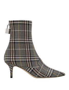 Lock Plaid Booties by Monse