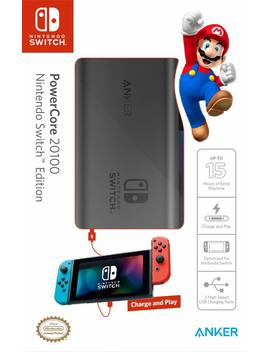 [Power Delivery] Anker Power Core 20100 Nintendo Switch Edition, The Official 20100m Ah Portable Charger For Nintendo Switch, For Use With I Phone X/8, Mac Book Pro, And More by By          Anker