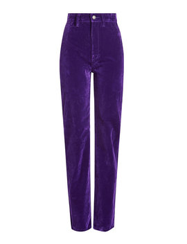 High Rise Velvet Disco Jeans by Marc Jacobs