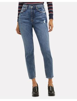 Karolina High Rise Faded Blue Jeans by Grlfrnd