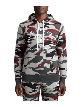 Mens Buddha Graphic Pullover Hoodie by True Religion