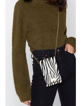 Want Herd Party Tonight Zebra Crossbody Bag by Nasty Gal