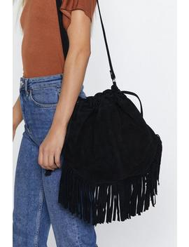 Want Can You Be Suede Bucket Bag by Nasty Gal