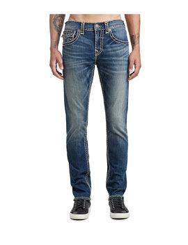 Mens Multi Super T Skinny Jean W/ Flap by True Religion