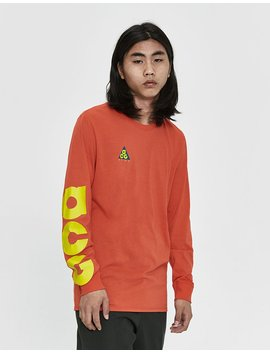 L/S Acg Tee In Habanero Red by Nike