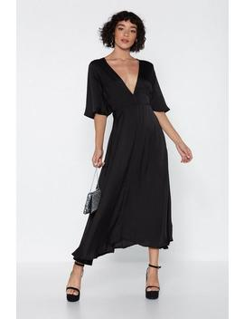 Give It A Whirl Plunging Dress by Nasty Gal