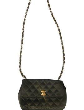 Black Denim Cross Body Bag by Chanel