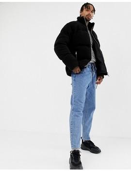 Asos Design Borg Puffer Jacket In Black by Asos Design