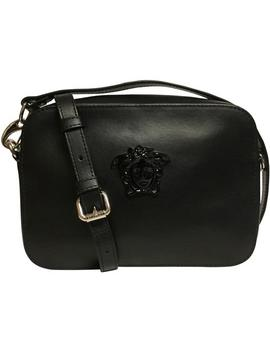 Medusa Camera Black Leather Cross Body Bag by Versace