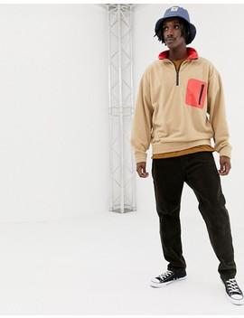Weekday Micro Halfzip Sweater by Weekday