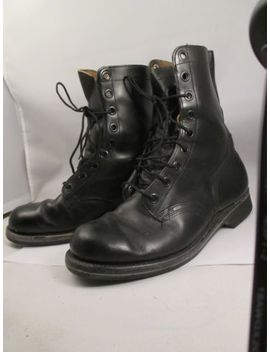 Vtg 60s Mens 9 R  Vietnam  Combat Boots Black Goodrich 1966 Safty 1 St Shoe Co. by Safty First Shoe Co.
