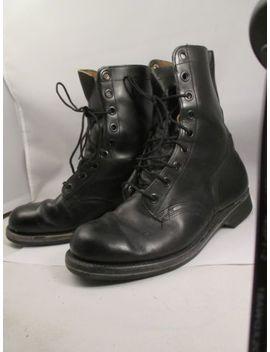 Vtg 60s Mens 9 R  Vietnam  Combat Boots Black Goodrich 1966 Safty 1 St Shoe Co. by Safty First Shoe Co.