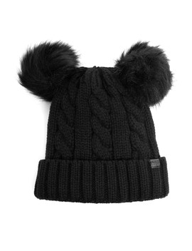 Playful Double Pom Beanie by Windsor