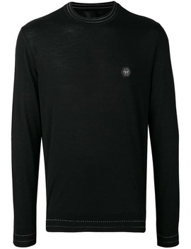 Logo Plaque Sweater by Philipp Plein