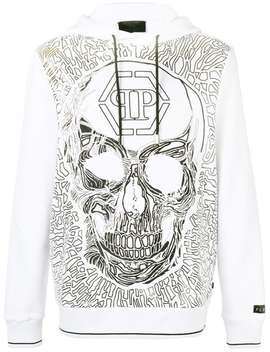 Skull Embroidered Hoody by Philipp Plein