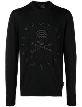 Stars Skull Slim Fit Sweater by Philipp Plein