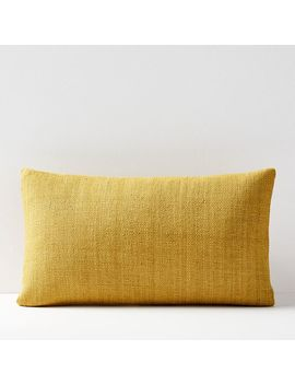 Silk Hand Loomed Lumbar Pillow Covers by West Elm