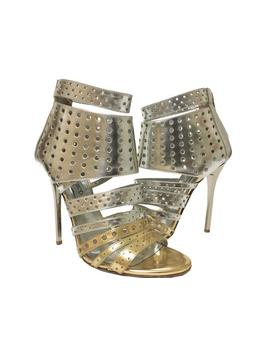 Silver   Malika Caged Sandals by Jimmy Choo