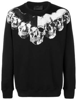 Embellished Skulls Sweatshirt by Philipp Plein