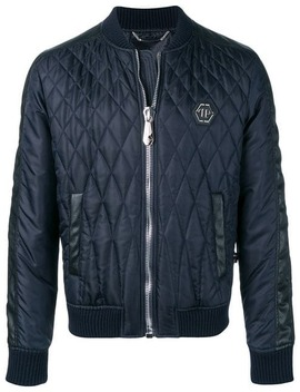 Try Too Hard Quilted Bomber Jacket by Philipp Plein