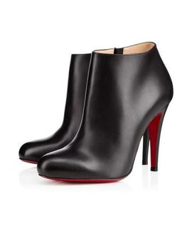 Black Belle 1o0 Leather Ankle Heels Boots/Booties by Christian Louboutin