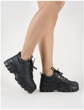 Vouch Chunky Trainers In Black by Public Desire