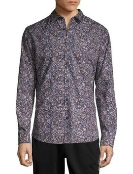 Floral Button Down Shirt by Selected Homme