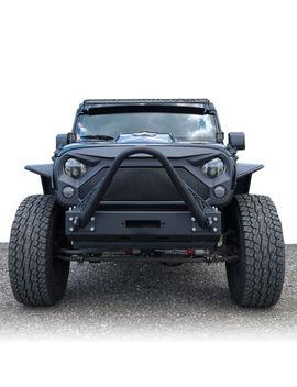 Angry Shark Front Matt Black Large Mesh Grille For  2007 2018 Jeep Wrangler Jk by Genssi