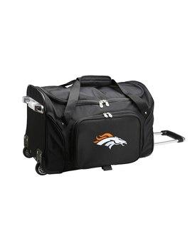 "Denver Broncos 22"" 2 Wheeled Duffel Bag   Black by Mojo Licensing"