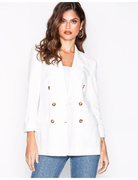 Linen Mix Blazer by Topshop